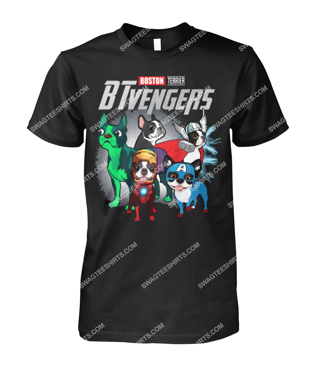 boston terrier btvengers marvel avengers dogs lover tshirt 1