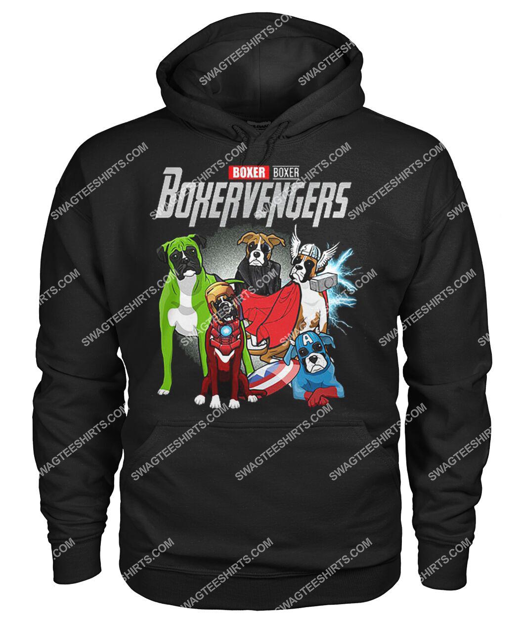 boxer boxervengers marvel avengers dogs lover hoodie 1