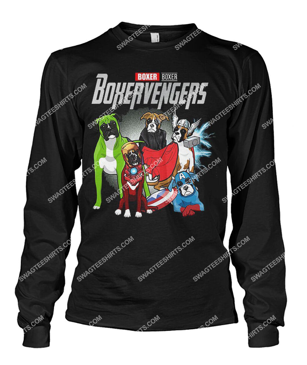 boxer boxervengers marvel avengers dogs lover sweatshirt 1