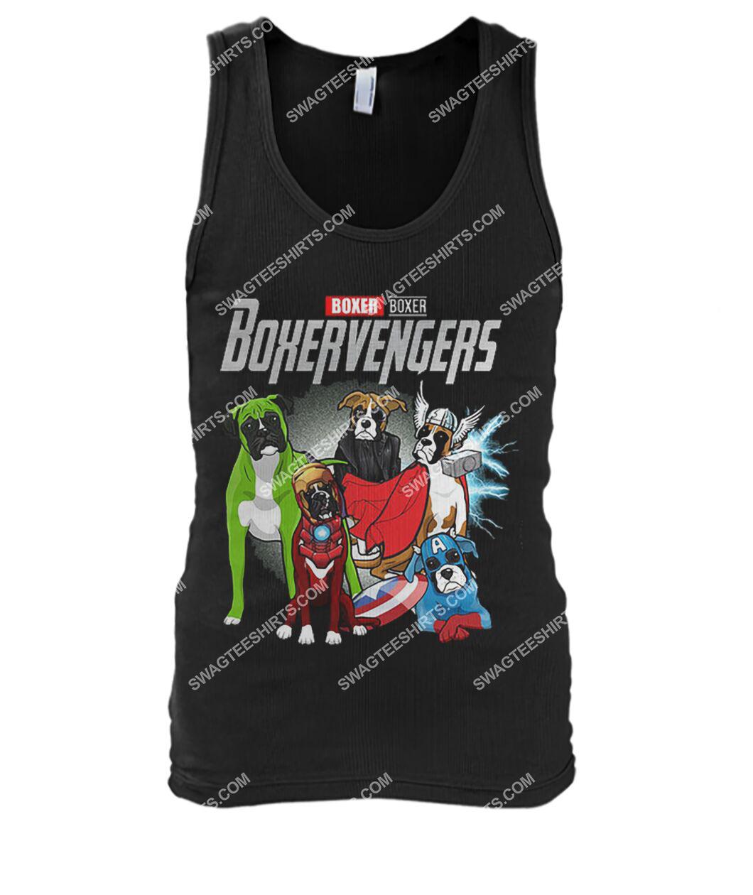 boxer boxervengers marvel avengers dogs lover tank top 1
