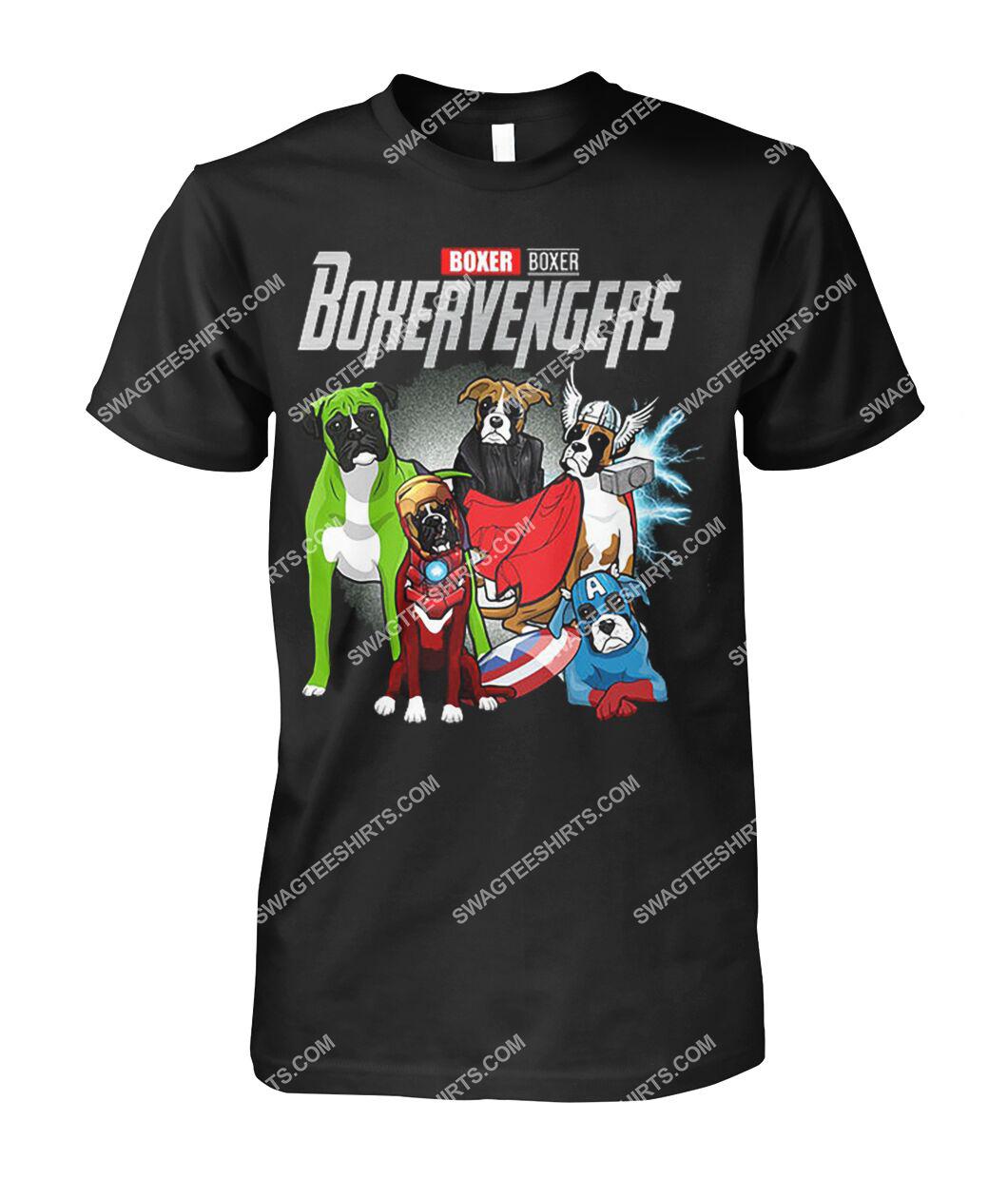 boxer boxervengers marvel avengers dogs lover tshirt 1