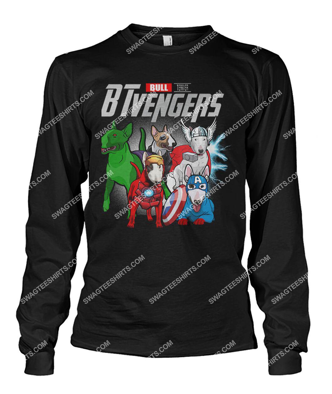 bull terrier btvengers marvel avengers dogs lover sweatshirt 1