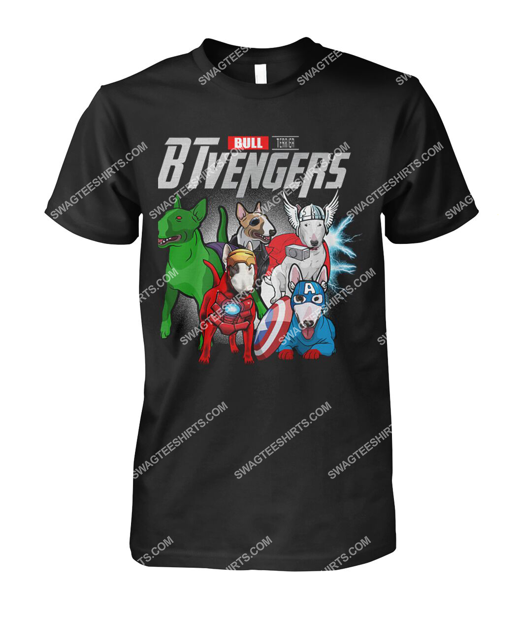 bull terrier btvengers marvel avengers dogs lover tshirt 1