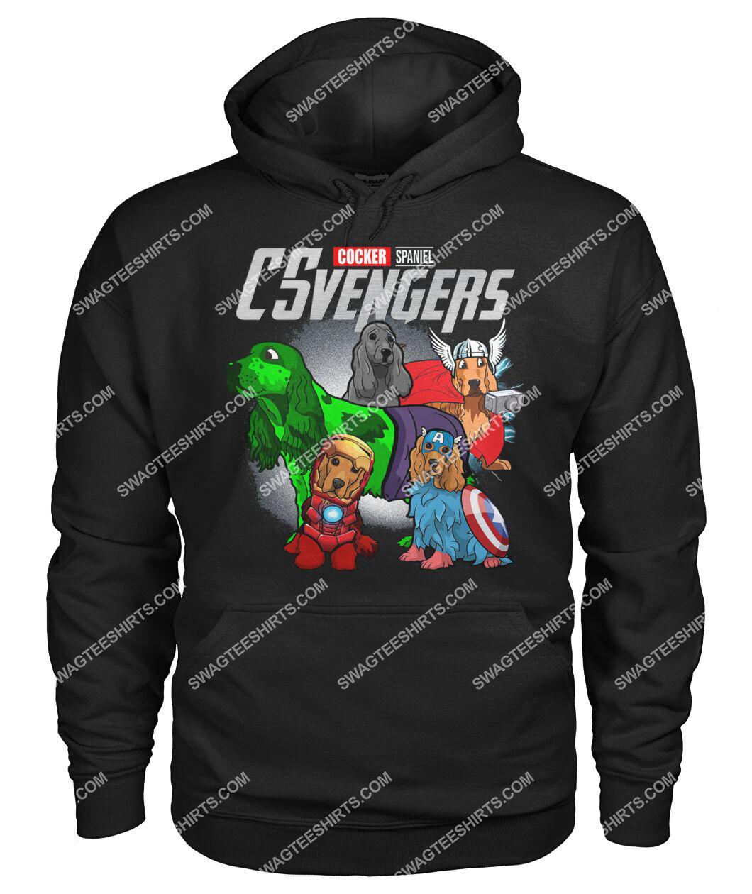 cocker spaniel csvengers marvel avengers dogs lover hoodie 1