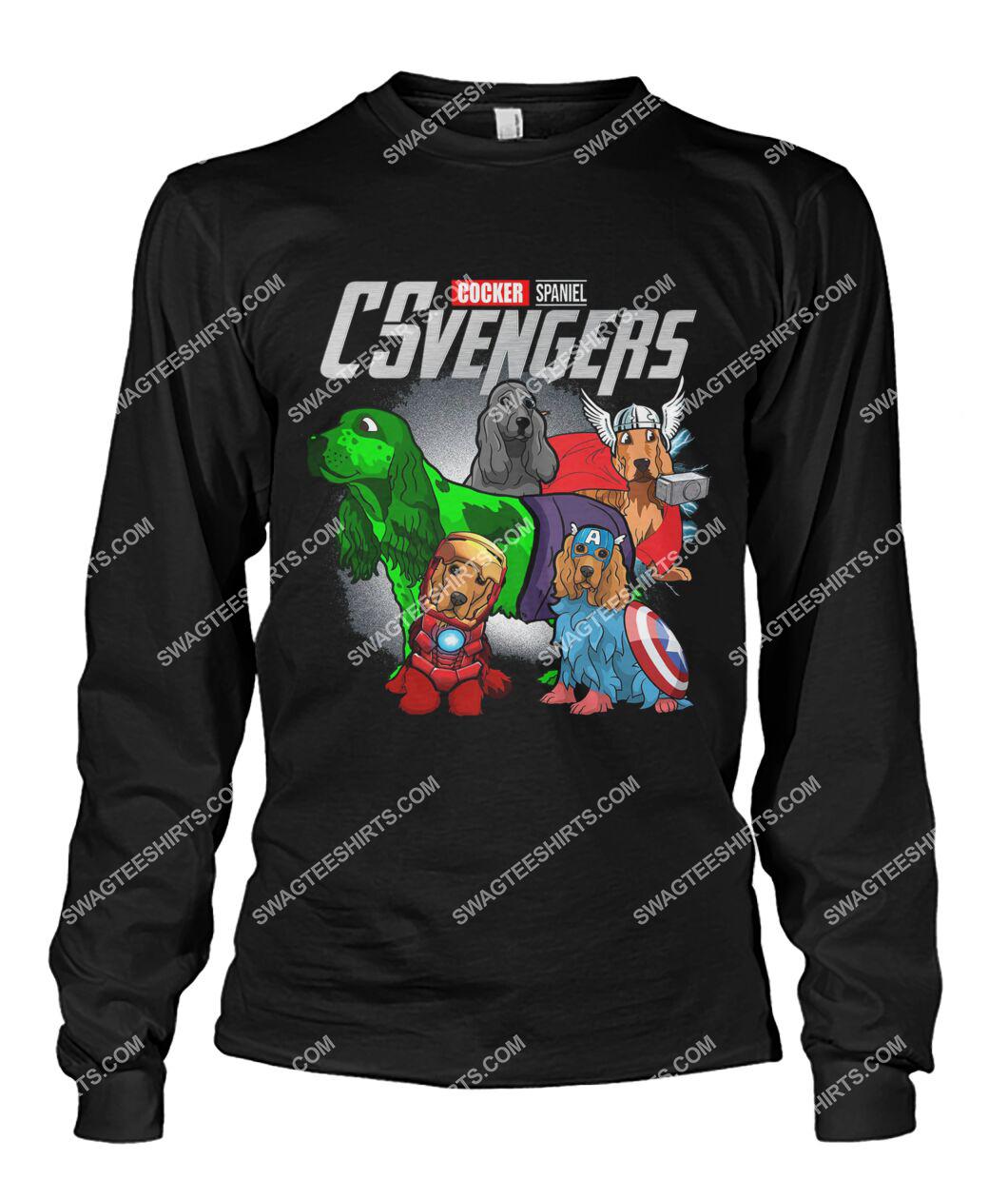 cocker spaniel csvengers marvel avengers dogs lover sweatshirt 1