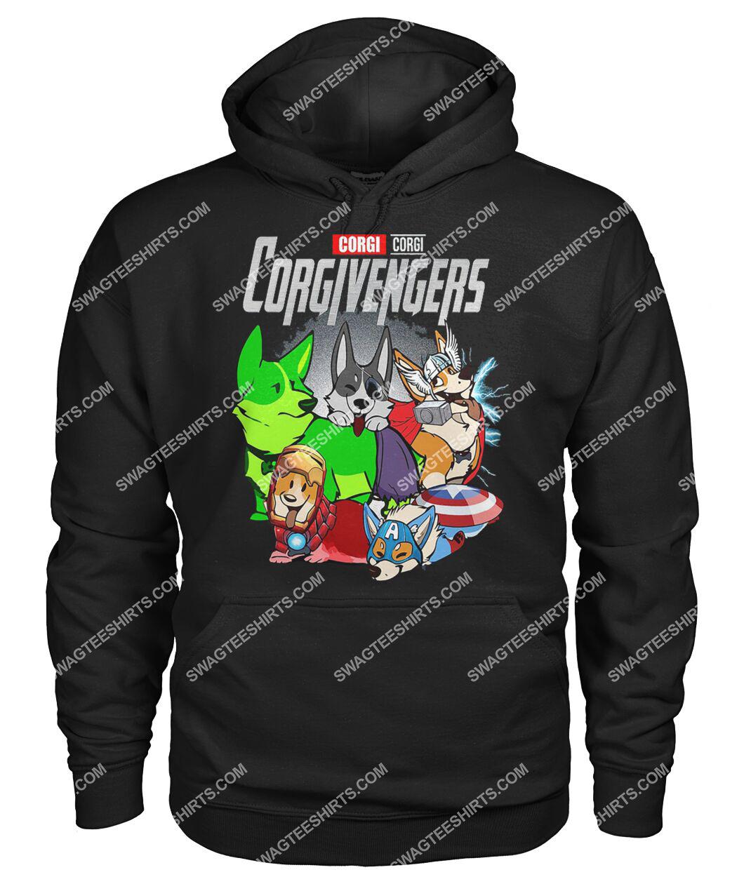corgi corgivengers marvel avengers dogs lover hoodie 1