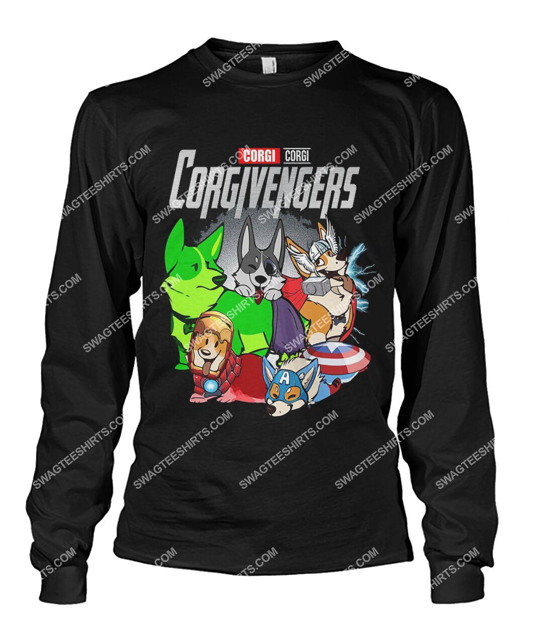 corgi corgivengers marvel avengers dogs lover sweatshirt 1