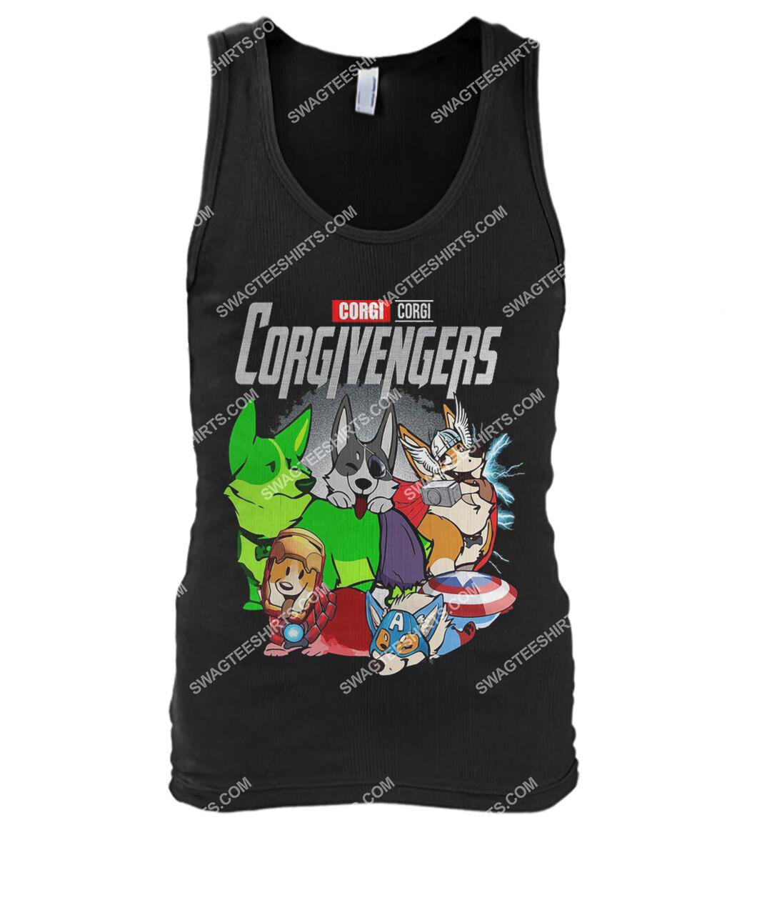 corgi corgivengers marvel avengers dogs lover tank top 1