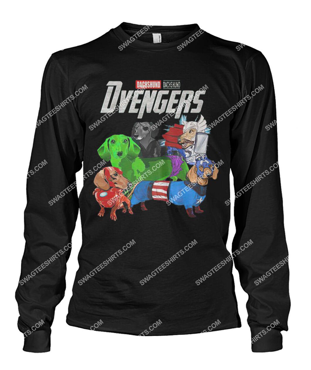 dachshund dvengers marvel avengers dogs lover sweatshirt 1