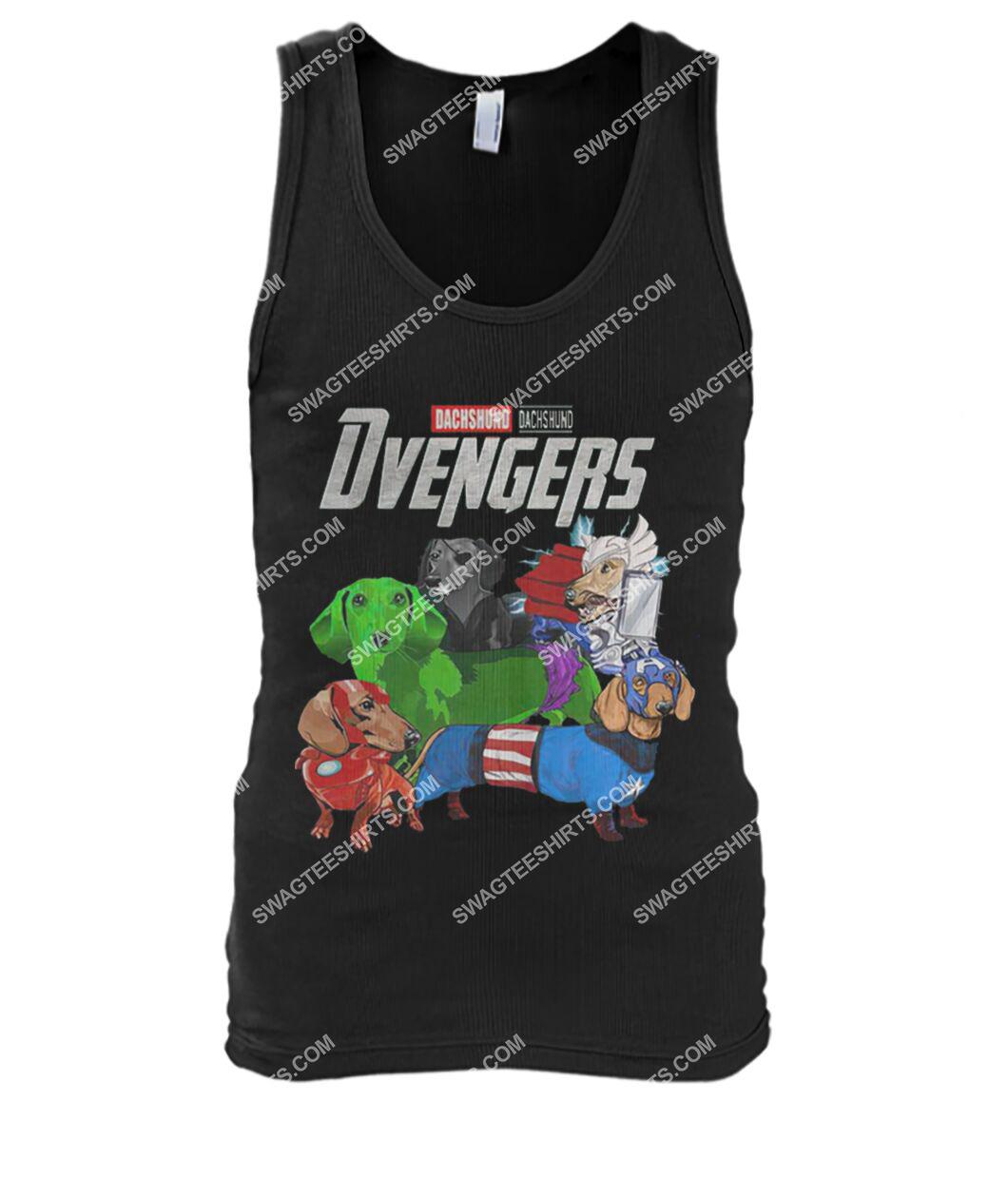 dachshund dvengers marvel avengers dogs lover tank top 1