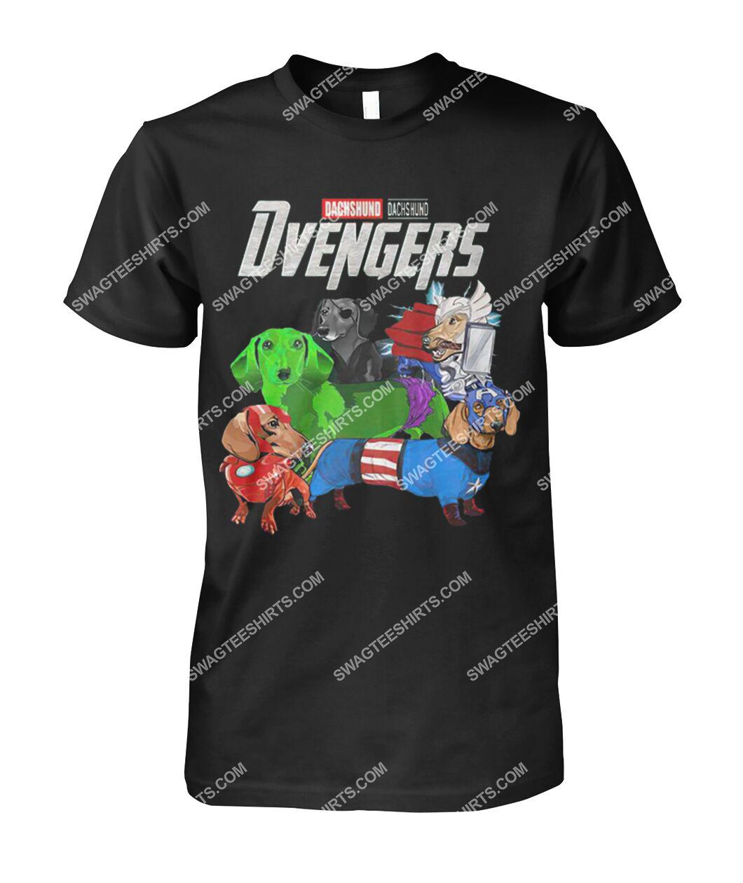 dachshund dvengers marvel avengers dogs lover tshirt 1