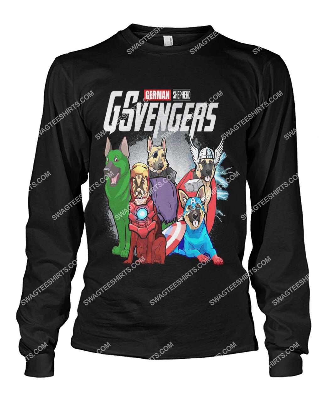 german shepherd gsvengers marvel avengers dogs lover sweatshirt 1