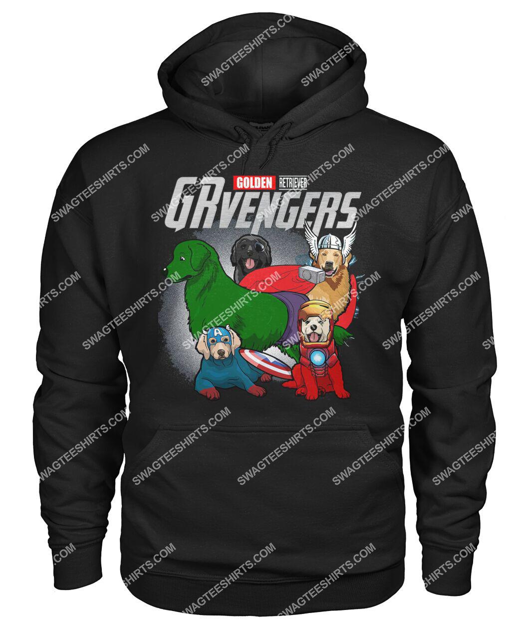 golden retriever grvengers marvel avengers dogs lover hoodie 1