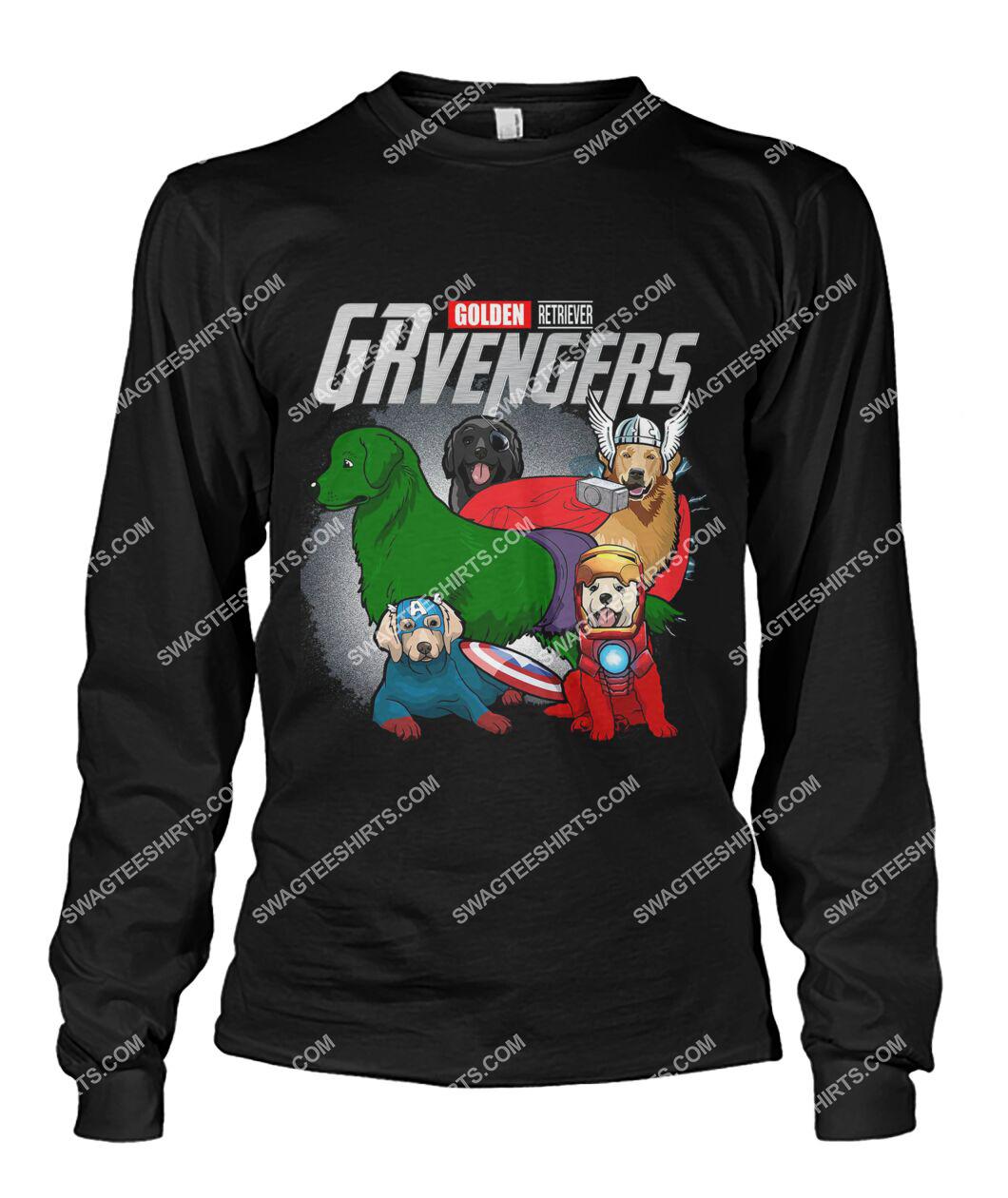 golden retriever grvengers marvel avengers dogs lover sweatshirt 1