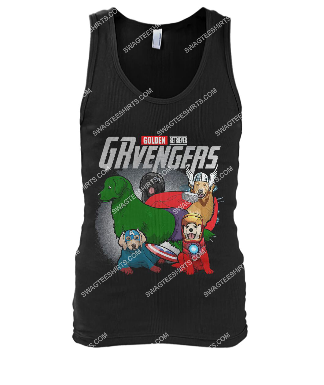 golden retriever grvengers marvel avengers dogs lover tank top 1