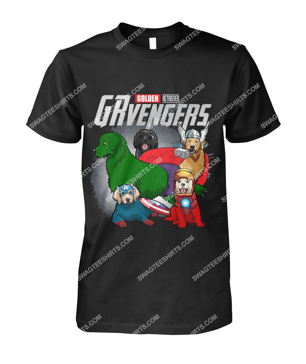 golden retriever grvengers marvel avengers dogs lover tshirt 1