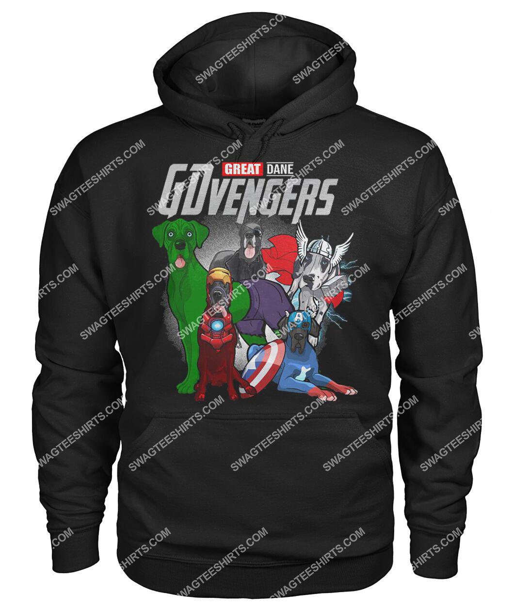 great dane gdvengers marvel avengers dogs lover hoodie 1