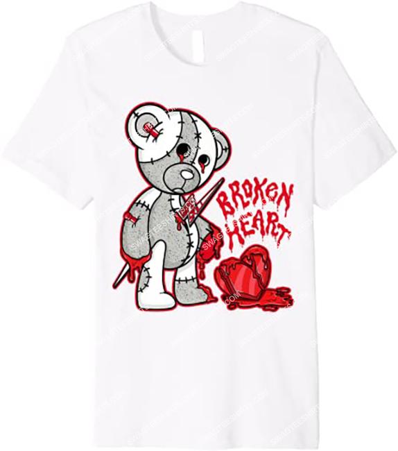 halloween broken heart bear match jordan 4 shirt 1 - Copy (2)