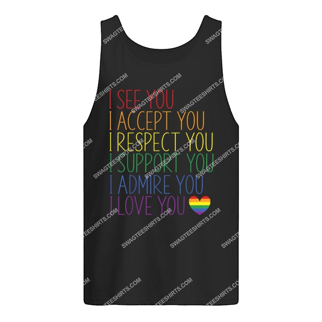i see accept respect support admire love you lgbtq tank top 1