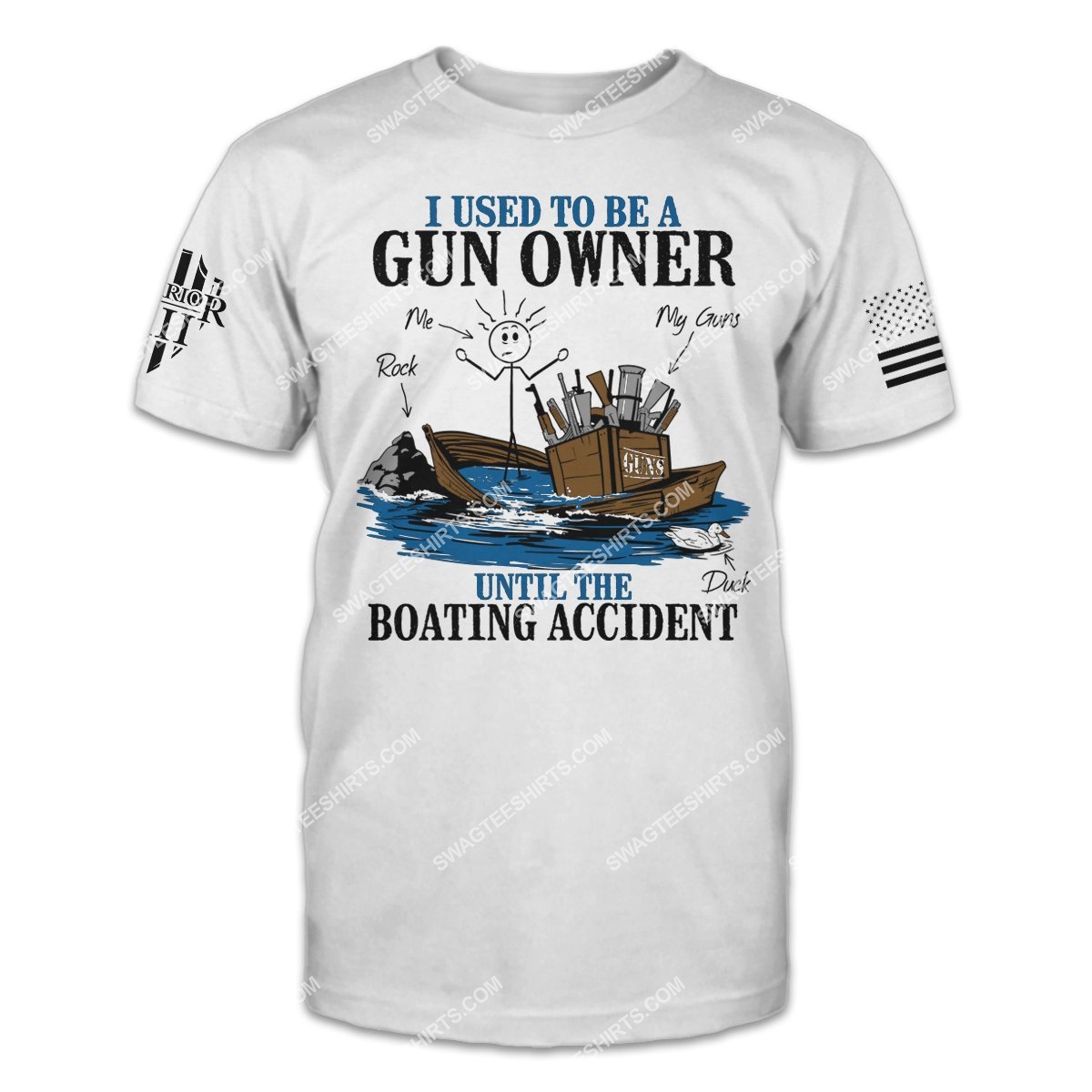i used to be a gun owner until the boating accident politics shirt 1