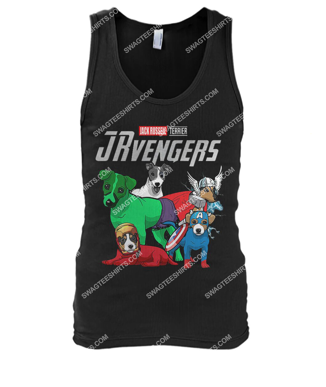 jack russell jrvengers marvel avengers dogs lover tank top 1