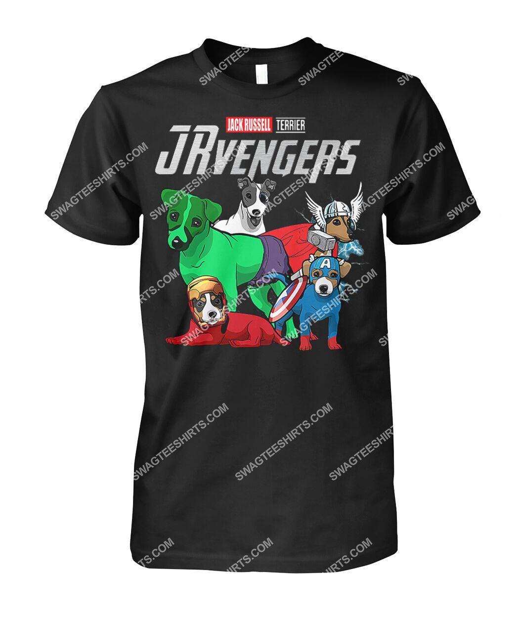 jack russell jrvengers marvel avengers dogs lover tshirt 1