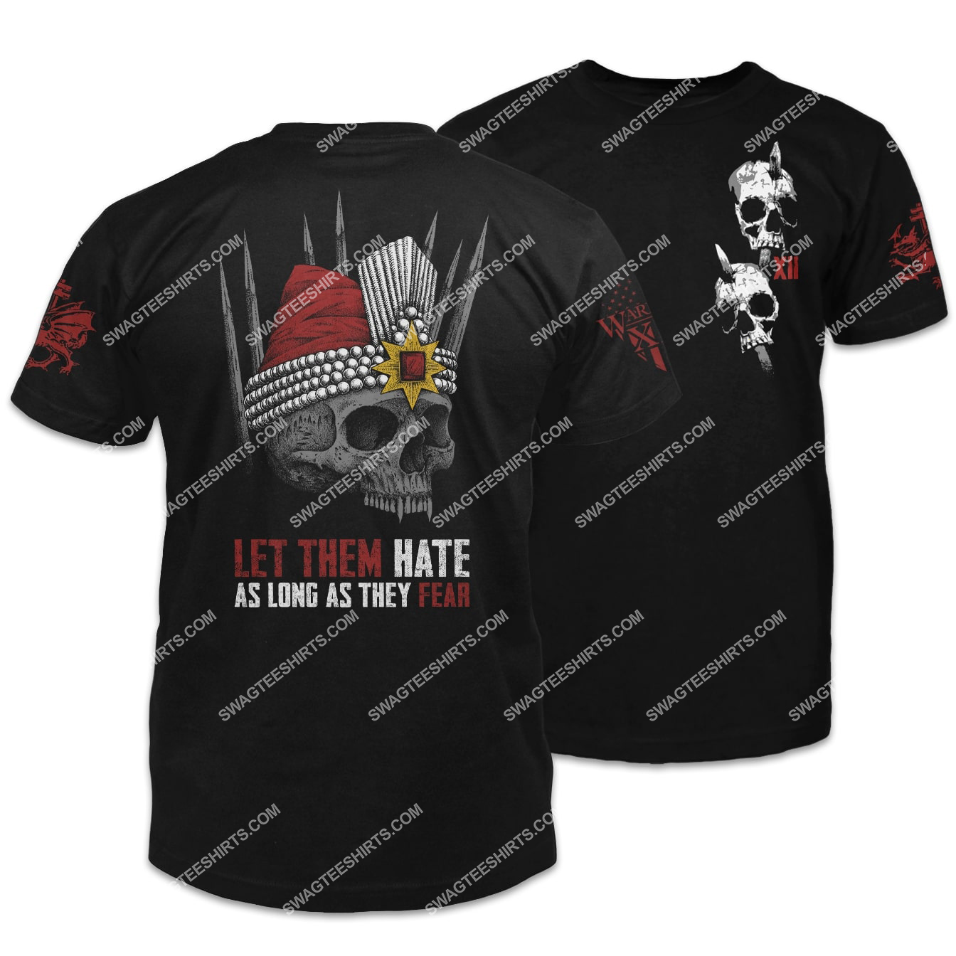 let them hate as long as they fear vlad skull shirt 1 - Copy (2)