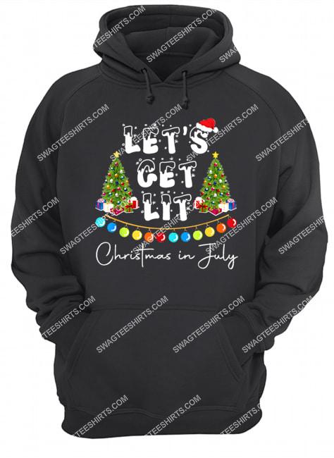 let's get lit christmas in july hoodie 1