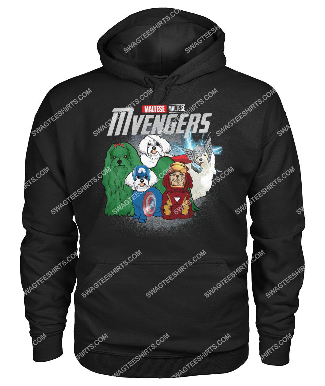 maltese mvengers marvel avengers dogs lover hoodie 1