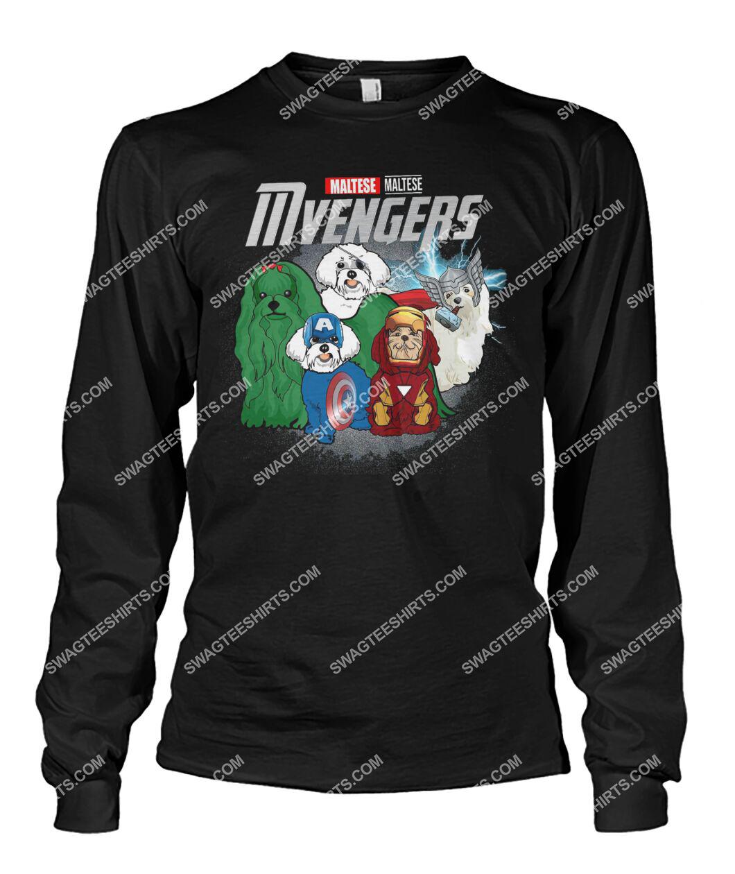maltese mvengers marvel avengers dogs lover sweatshirt 1
