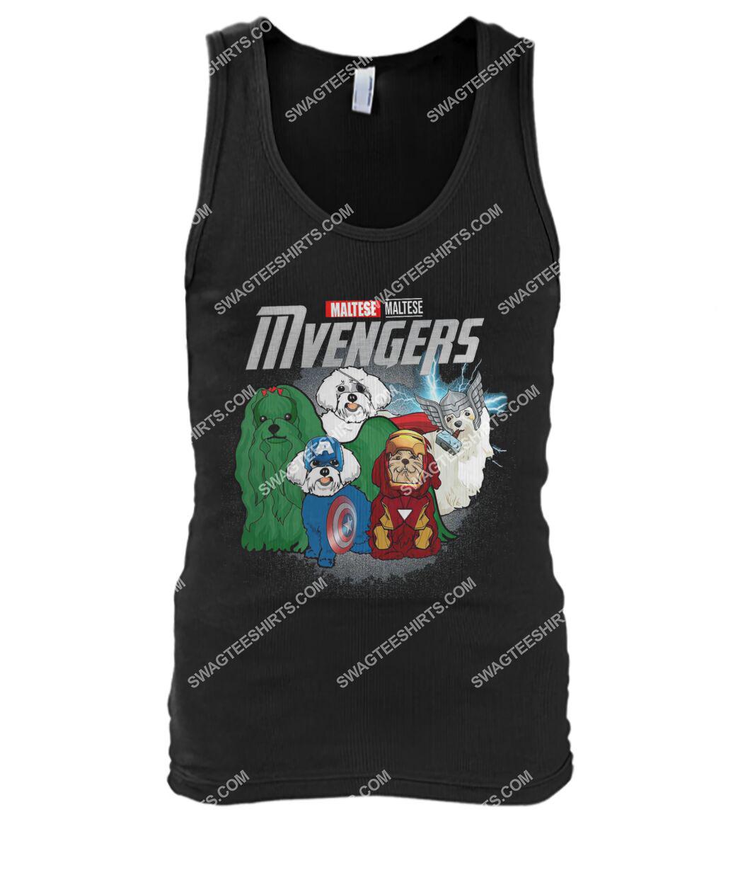 maltese mvengers marvel avengers dogs lover tank top 1
