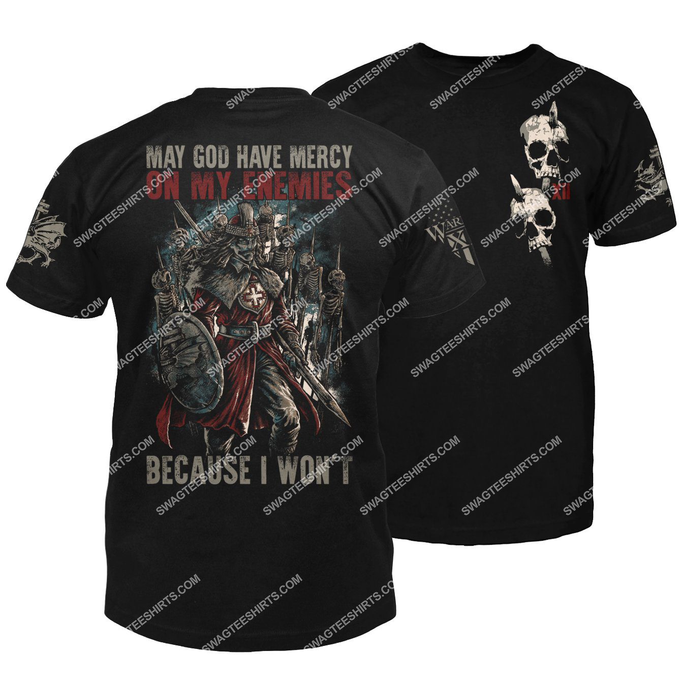 may God have mercy on my enemies because i won't vlad the impaler halloween shirt 1