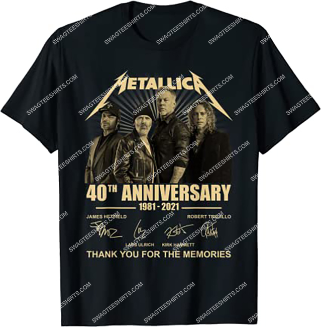 metallica 40th anniversary 1981 2021 thank you for the memories shirt 1 - Copy