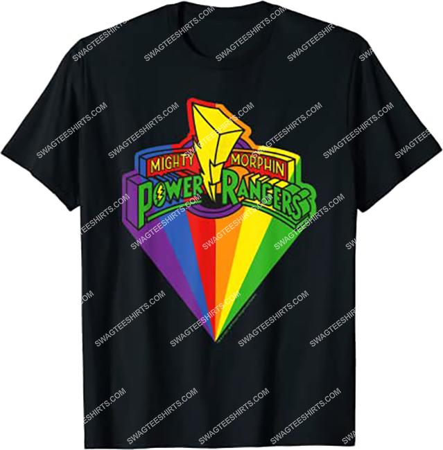 mighty morphin power rangers rainbow movie shirt 1