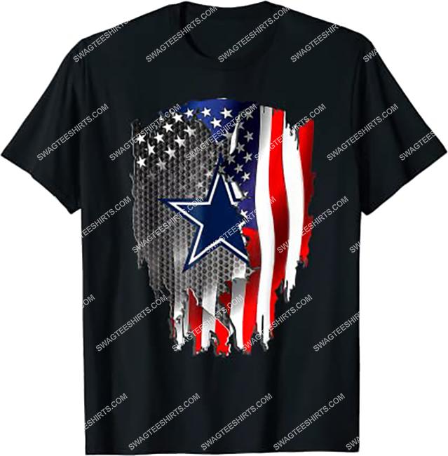 nfl dallas cowboys and american flag shirt 1