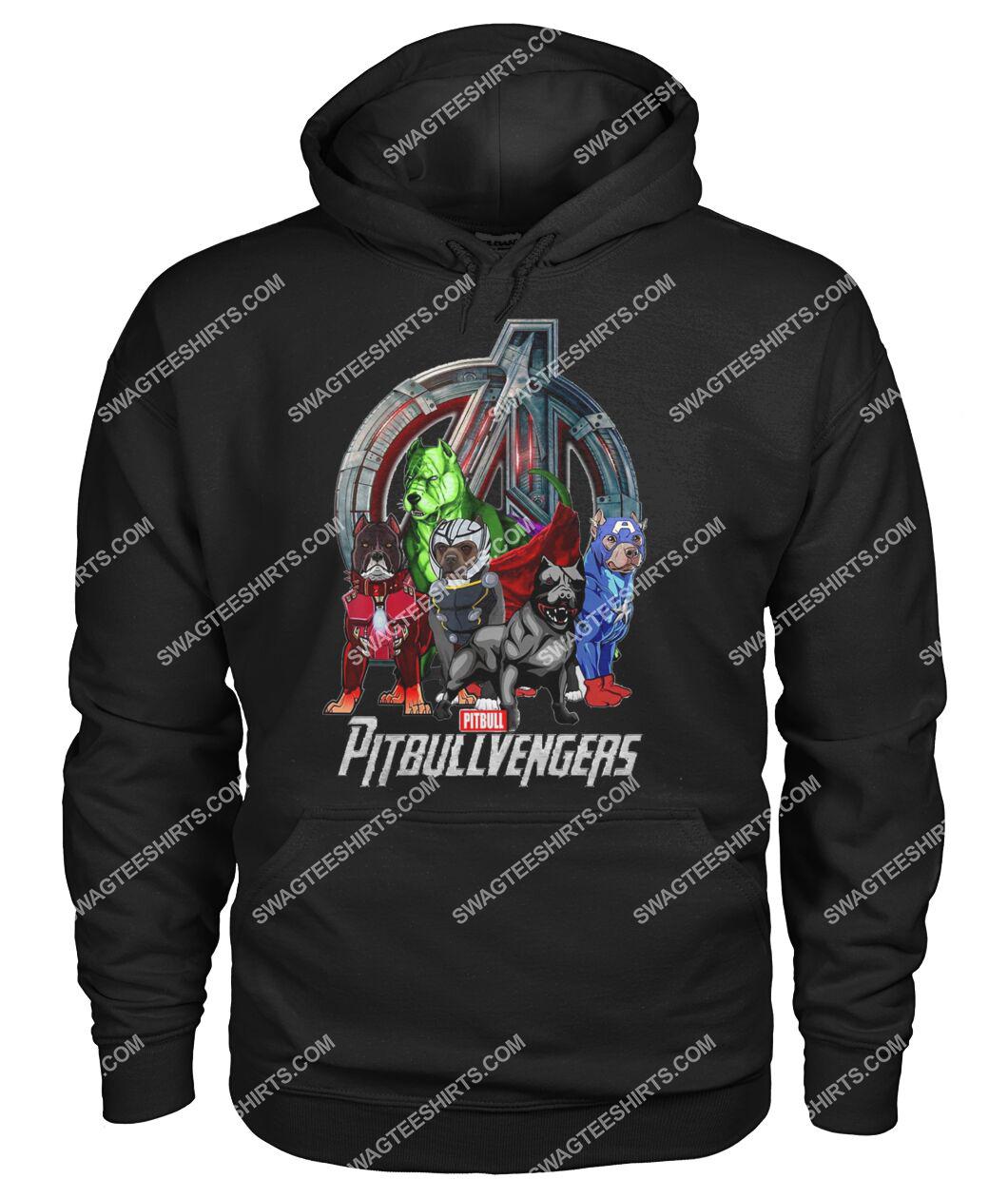 pit bull pitbullvengers marvel avengers dogs lover hoodie 1