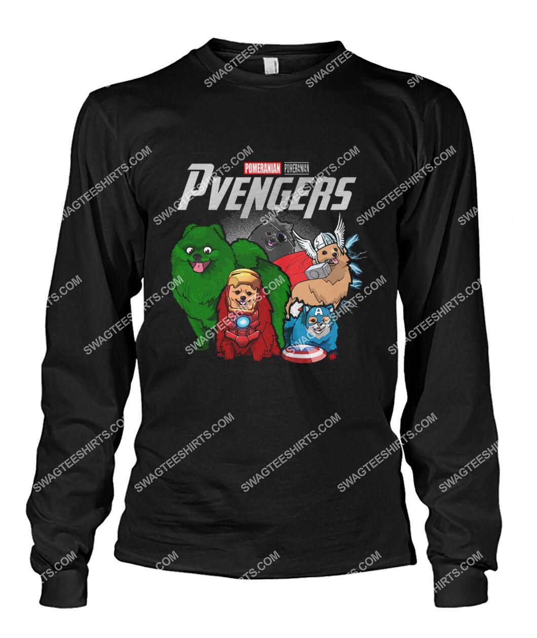 pomeranian pvengers marvel avengers dogs lover sweatshirt 1