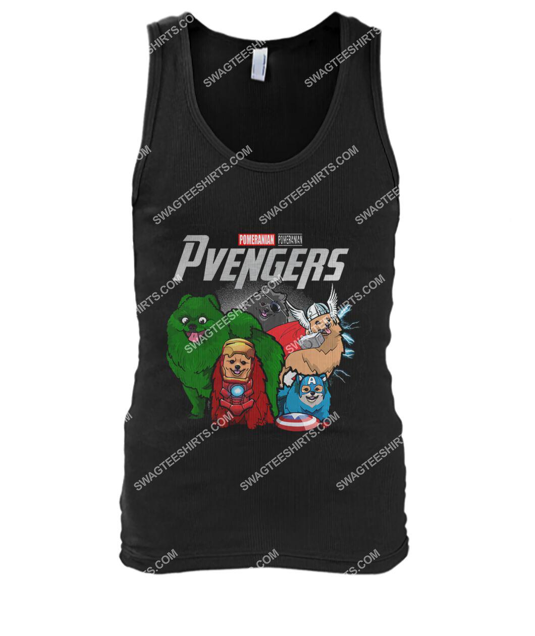pomeranian pvengers marvel avengers dogs lover tank top 1