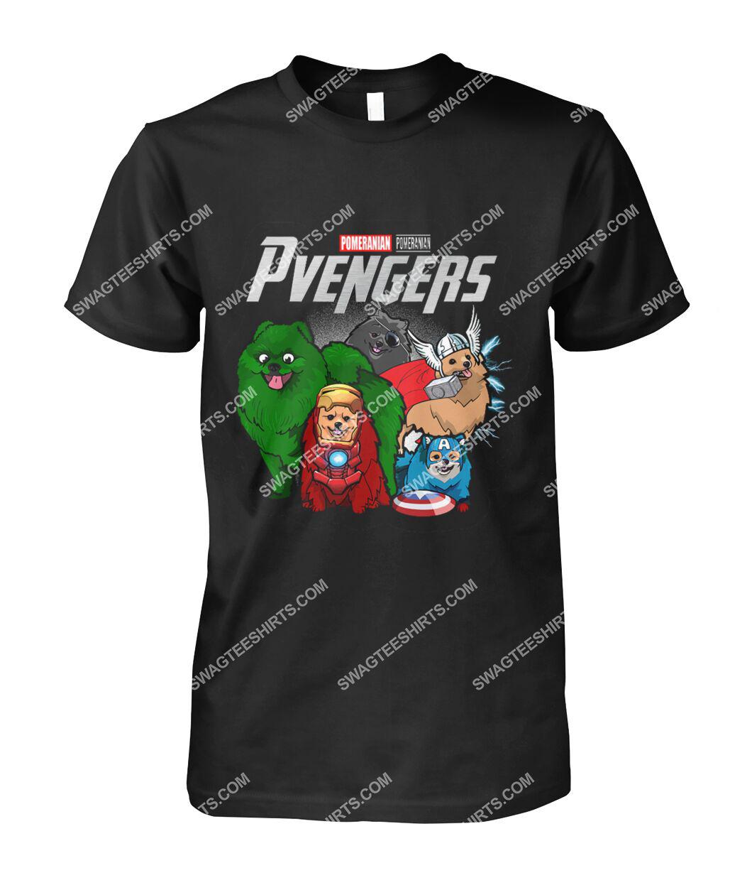 pomeranian pvengers marvel avengers dogs lover tshirt 1