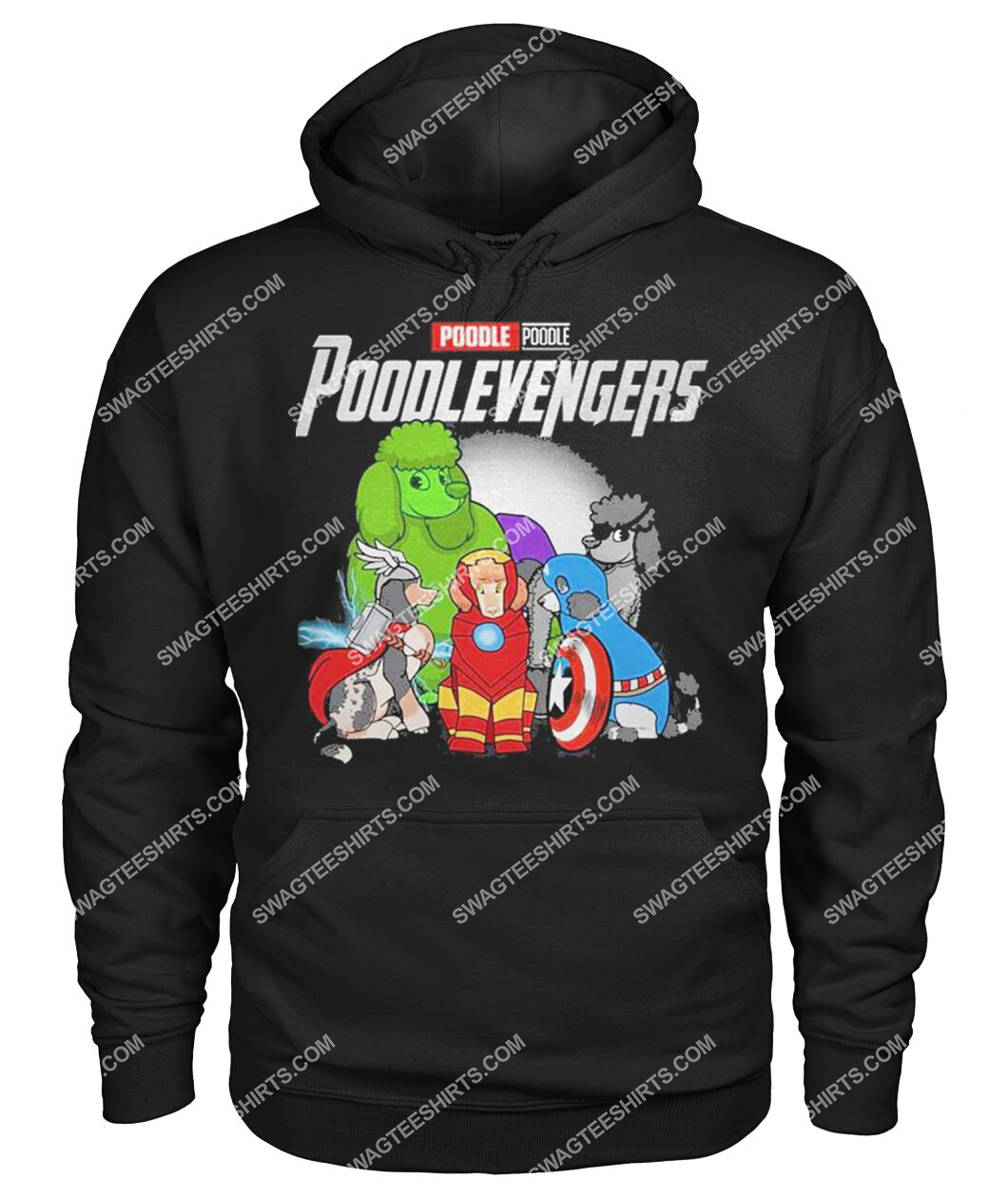 poodle poodlevengers marvel avengers dogs lover hoodie 1