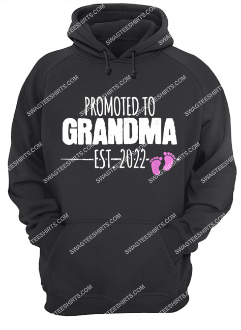 promoted to grandma 2022 baby announcement it's a girl hoodie 1
