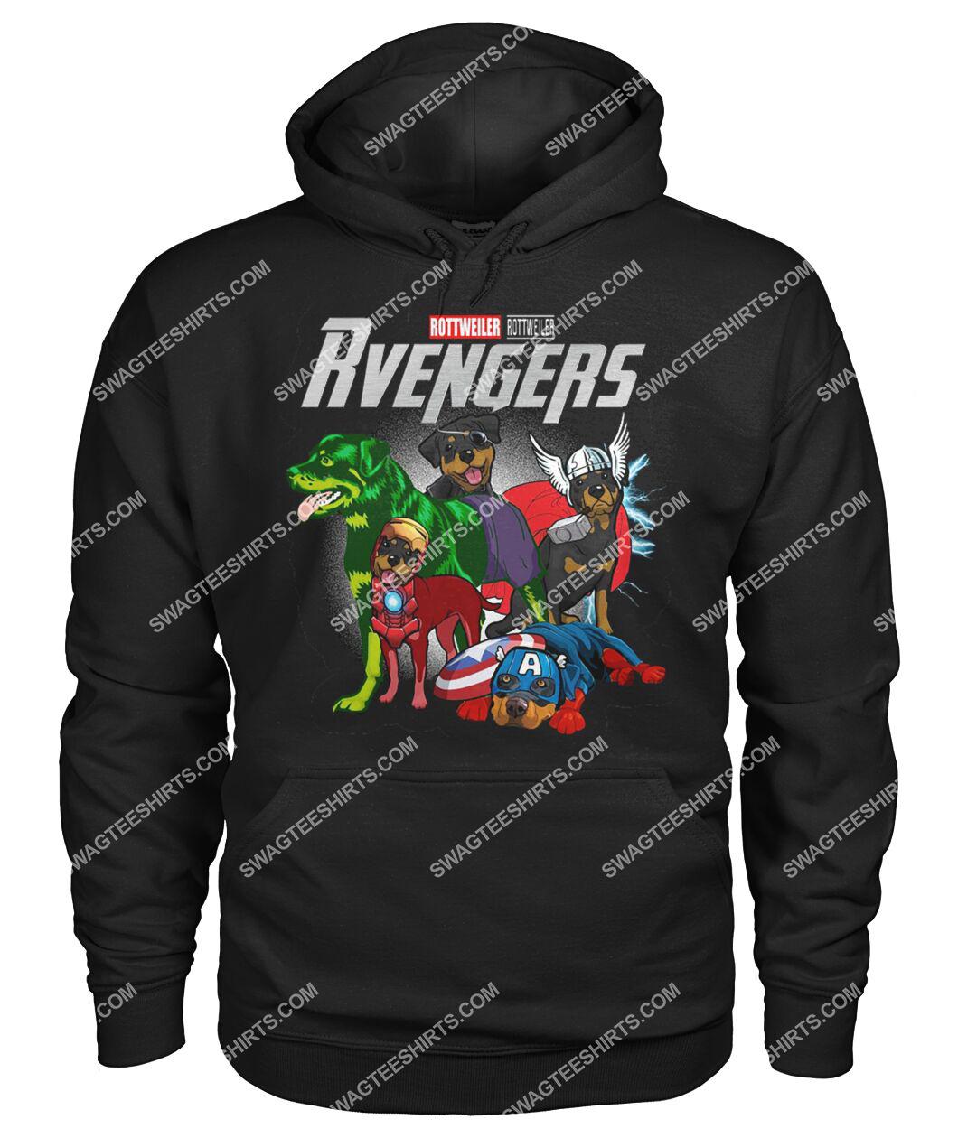 rottweiler rvengers marvel avengers dogs lover hoodie 1
