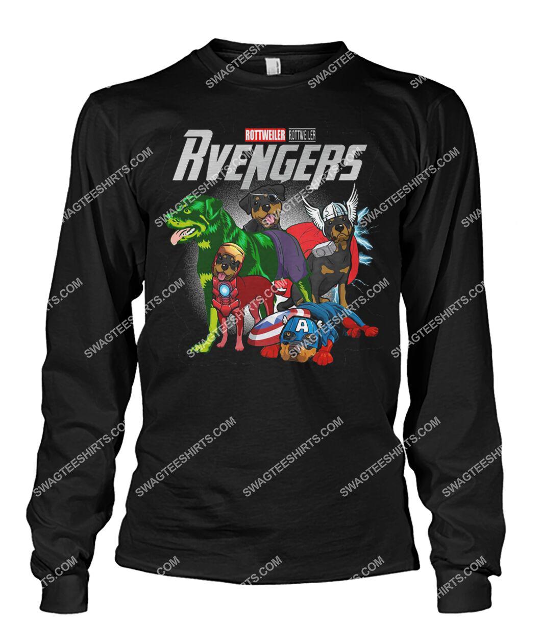 rottweiler rvengers marvel avengers dogs lover sweatshirt 1