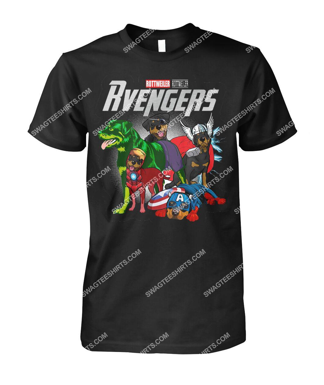 rottweiler rvengers marvel avengers dogs lover tshirt 1
