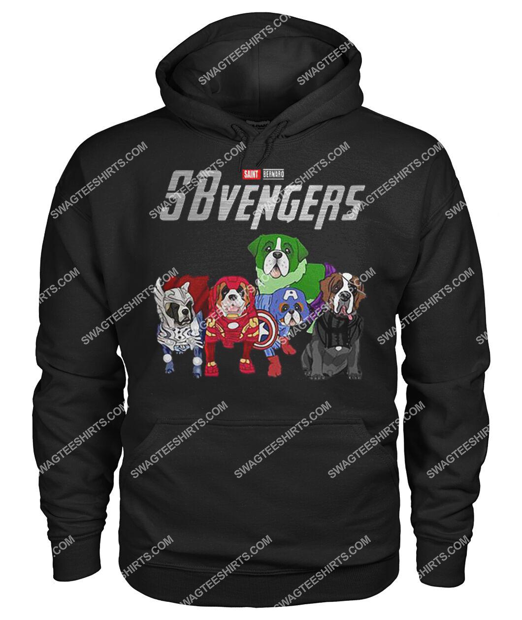 saint bernard sbvengers marvel avengers dogs lover hoodie 1