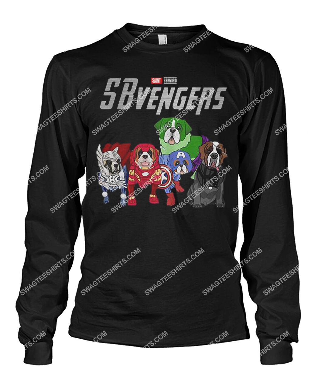 saint bernard sbvengers marvel avengers dogs lover sweatshirt 1