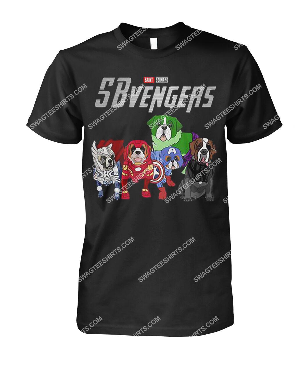 saint bernard sbvengers marvel avengers dogs lover tshirt 1