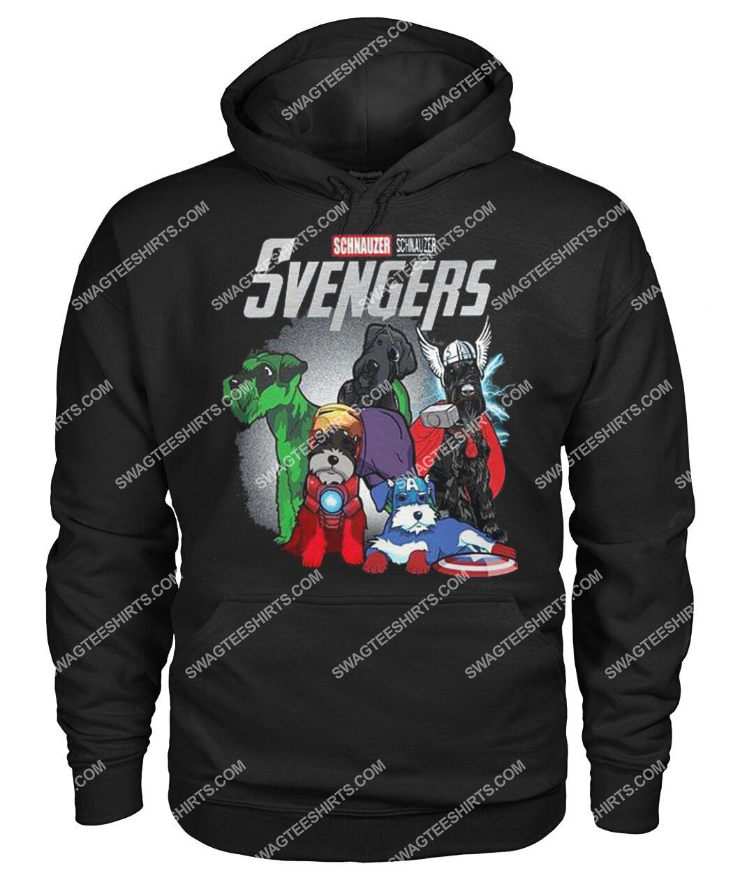 schnauzer svengers marvel avengers dogs lover hoodie 1