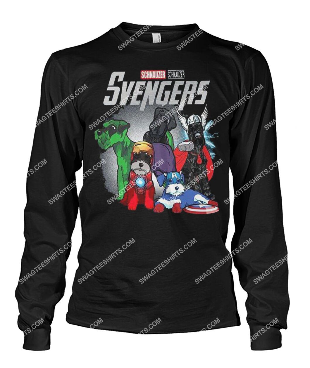 schnauzer svengers marvel avengers dogs lover sweatshirt 1