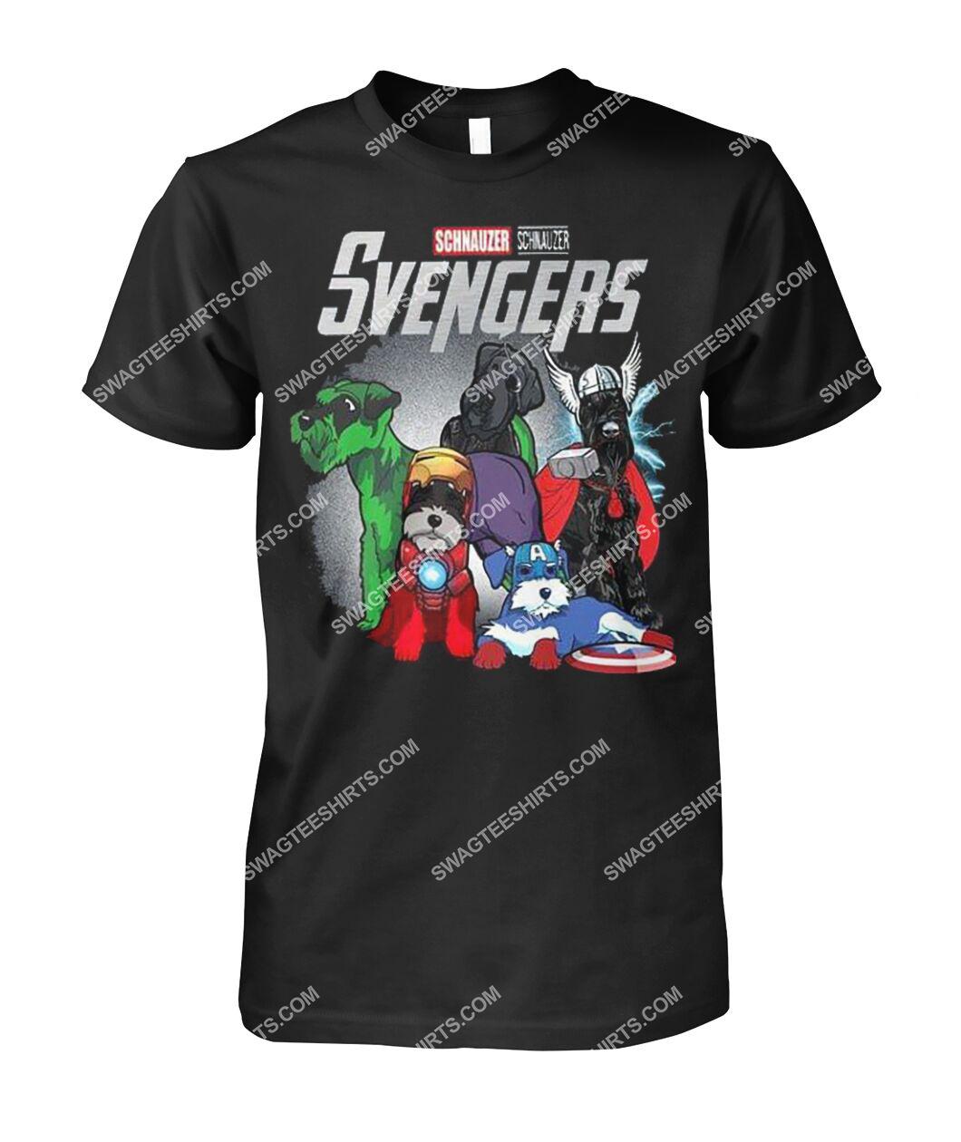 schnauzer svengers marvel avengers dogs lover tshirt 1